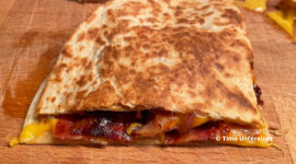Bacon-Cheddar Quesadilla